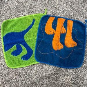 Set of 2 Dog Wash Cloths